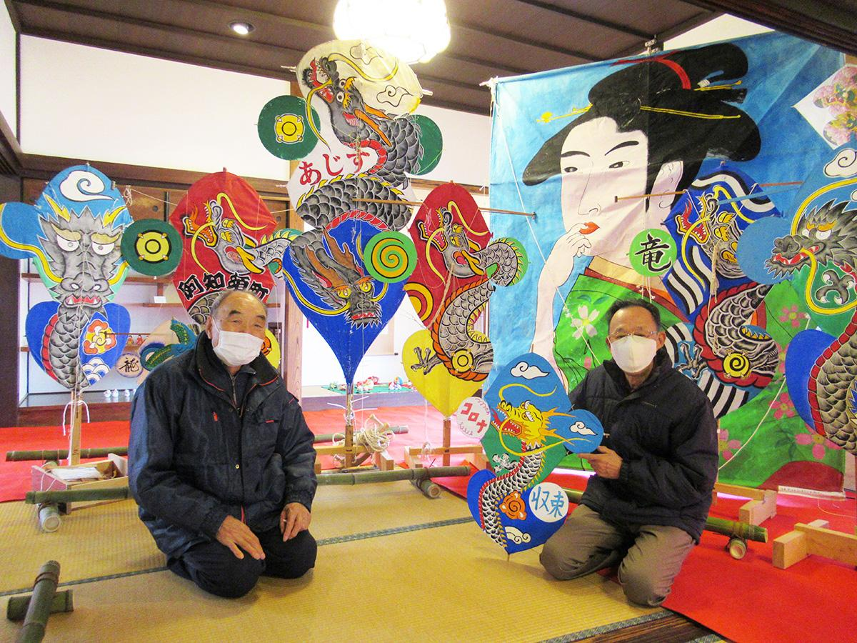 「きらら阿知須よーずクラブ」の藤井宏三会長(写真左)と向山寿男副会長