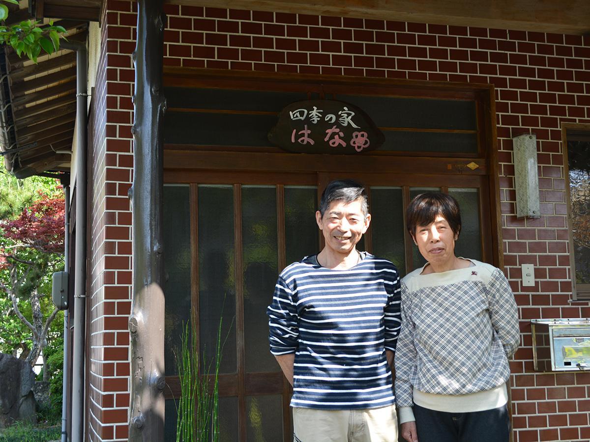 料理長の西本達司さんと妻の奈穂美さん
