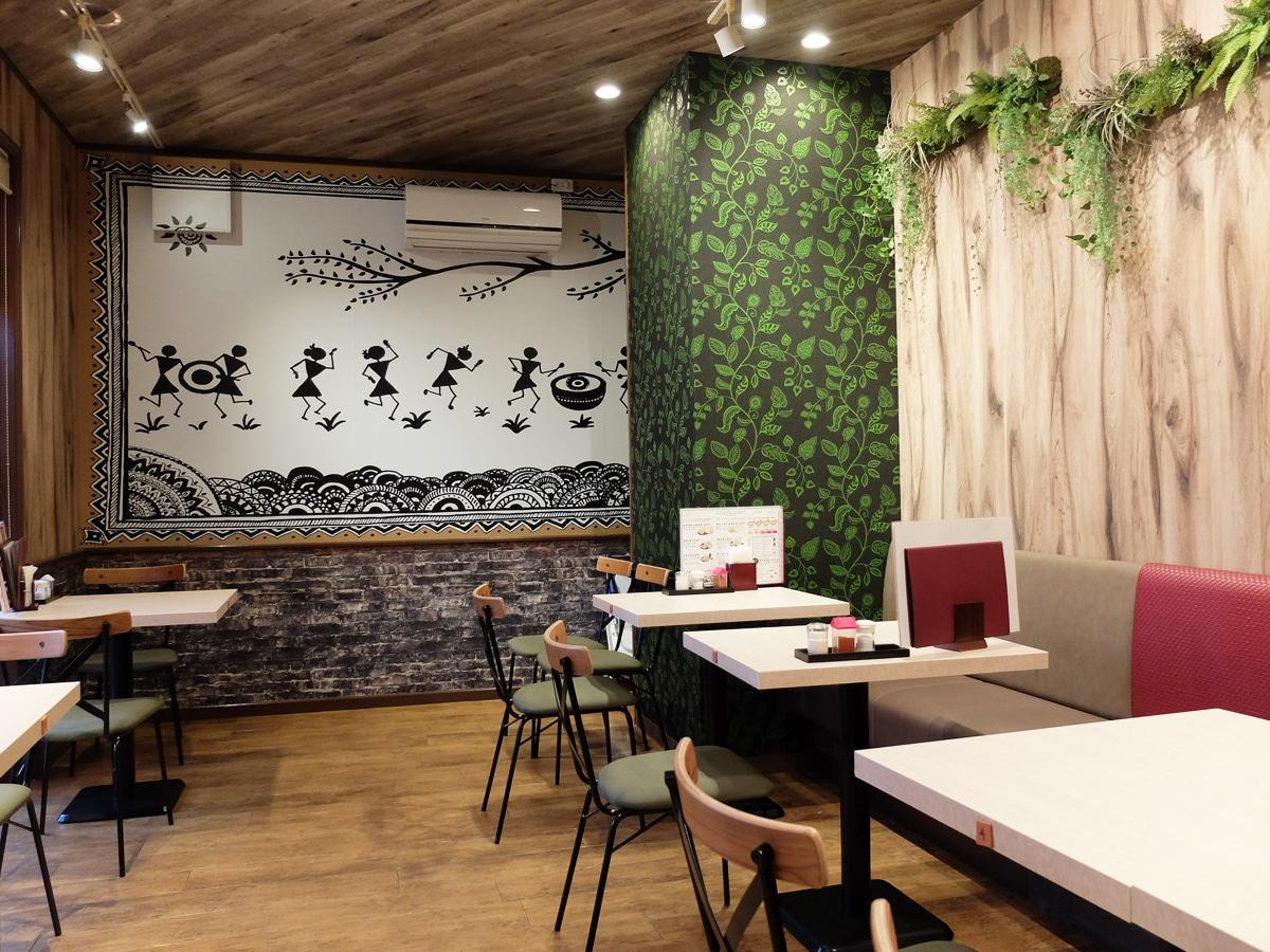 インドレストラン サンジワニ の店内 山口宇部経済新聞