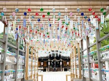 宇部・琴崎八幡宮で「風鈴祭り」 2000個の風鈴が涼を演出、盆まで「茅の輪」も
