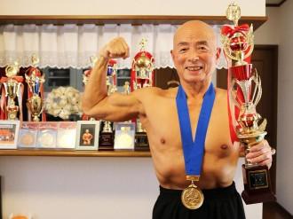 厚狭在住の76歳ボディービルダー矢田部さん、全日本大会で2連覇