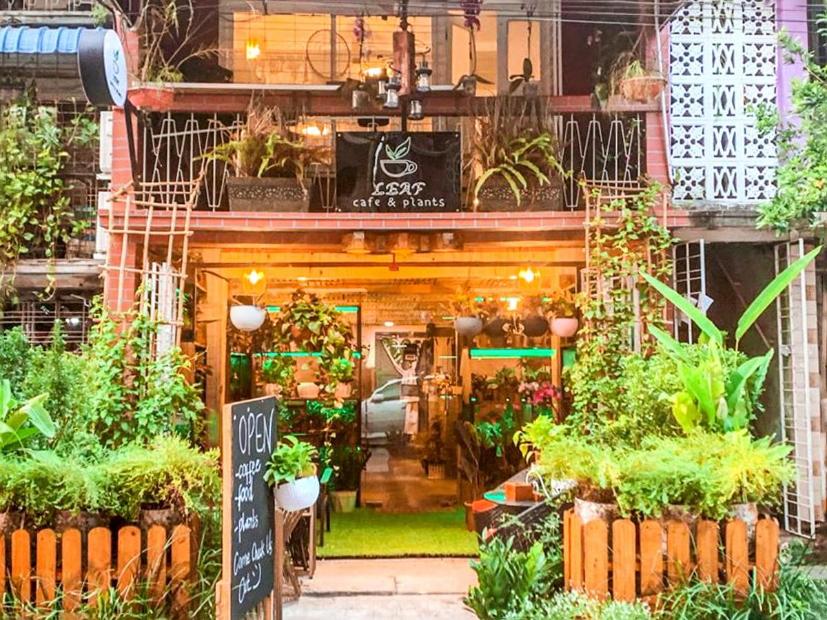 「Leaf Cafe & Plants」の外観