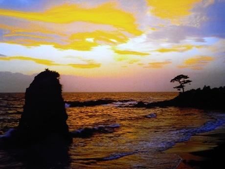 横須賀西海岸・立石の夕焼け(写真=スキスキ秋谷・立石の会)