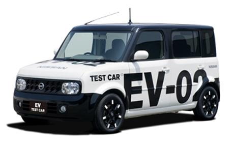 今年3月の「かながわ電気自動車フェスタ2009」に出展した日産のEV実験車両