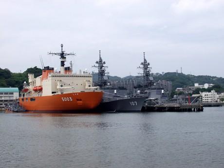 横須賀本港から見る海上自衛隊横須賀基地