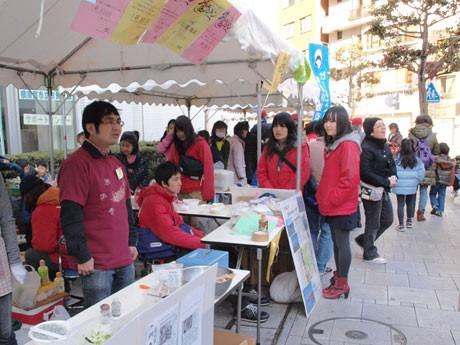 フリーマーケットなども開かれた「のたろんフェア2012」