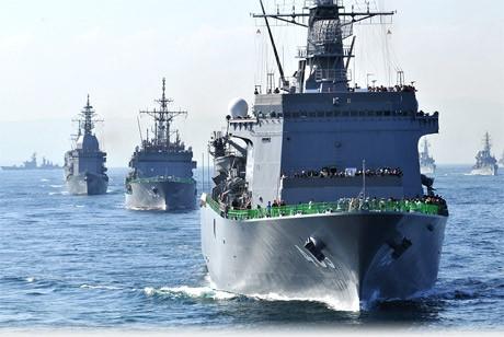 3年に1度実施される自衛隊観艦式。横須賀・横浜・木更津に全国から護衛艦が終結する
