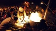 三浦半島最南端・城ヶ島で、夜通しの「塩炊き祭り」-海水から塩作り体験