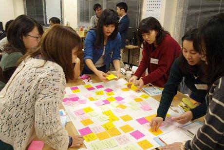 「こうあってほしい街」についてアイデア出しを行う横須賀の高校生たち