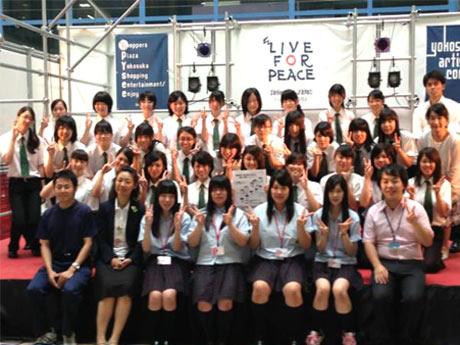 宮城県と横須賀の高校生たちによる吹奏楽合同コンサート(昨年の様子)