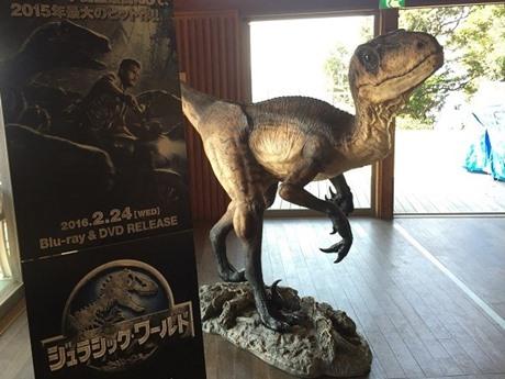 猿島に恐竜レプリカが設置され、脱出ゲームを盛り上げた