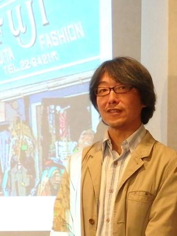 映画「スカブロ」の新キャストを発表する矢城潤一監督