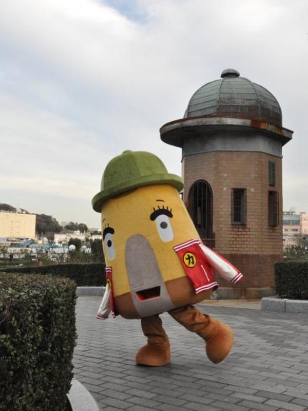 スカジャン着た新ゆるキャラ「逸見エモン」 横須賀の日本遺産PR
