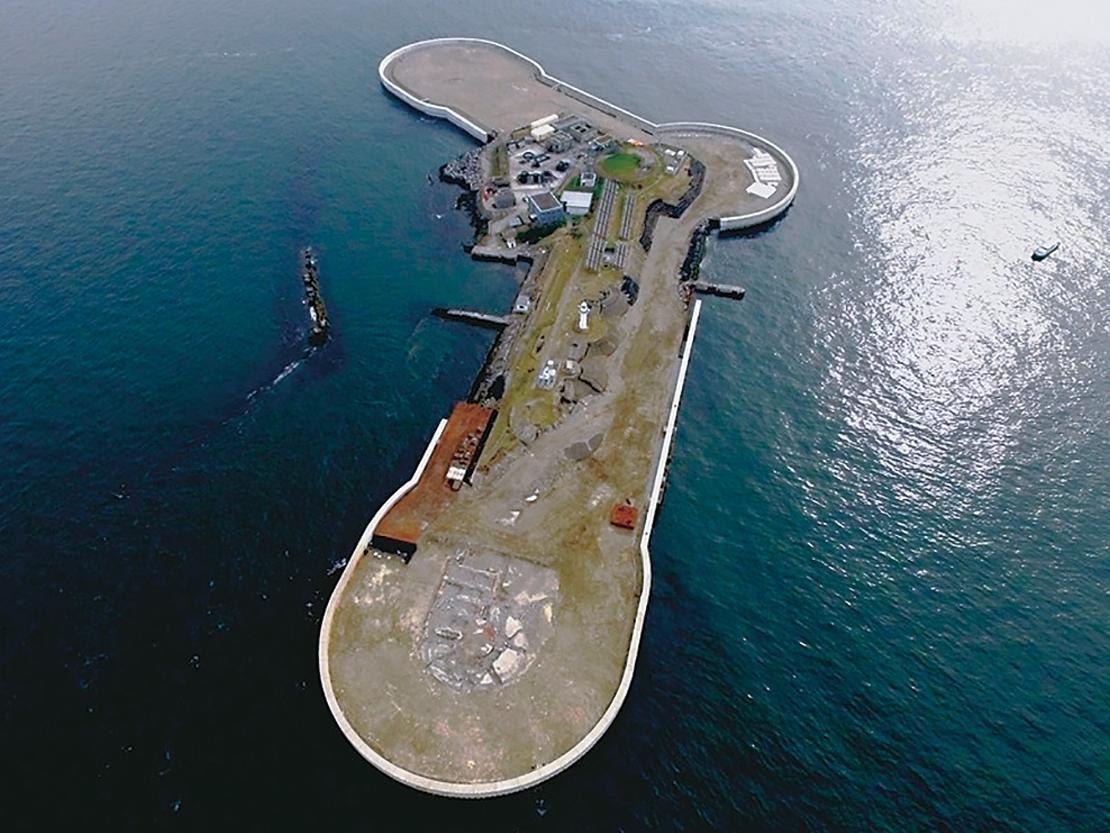 東京湾に浮かぶ海上要塞「第二海堡」(写真提供=横須賀市)