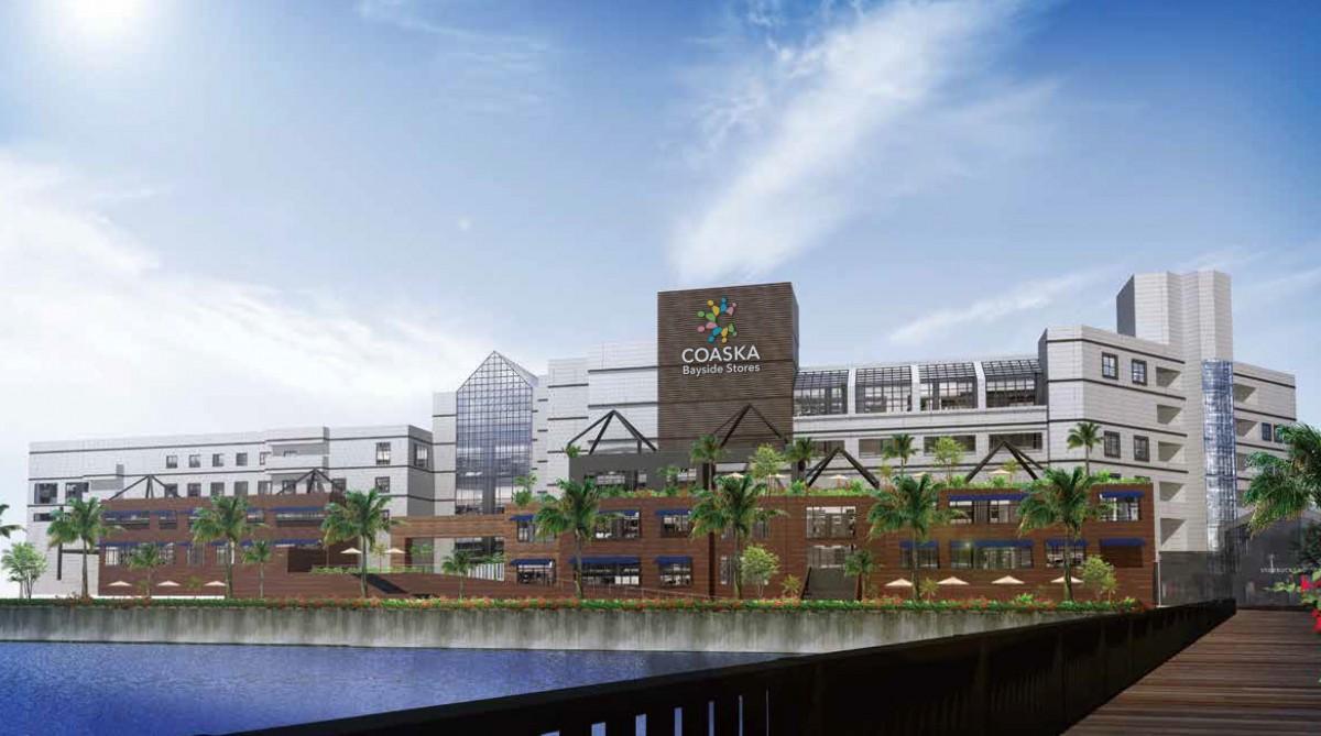 横須賀本港に隣接する「Coaska Bayside Stores」外観イメージ