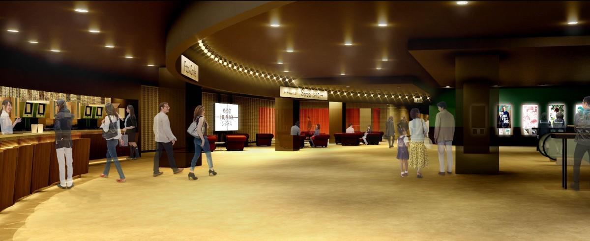 「ジャズクラブ」をイメージした横須賀HUMAXシネマズのロビー空間(予想図)