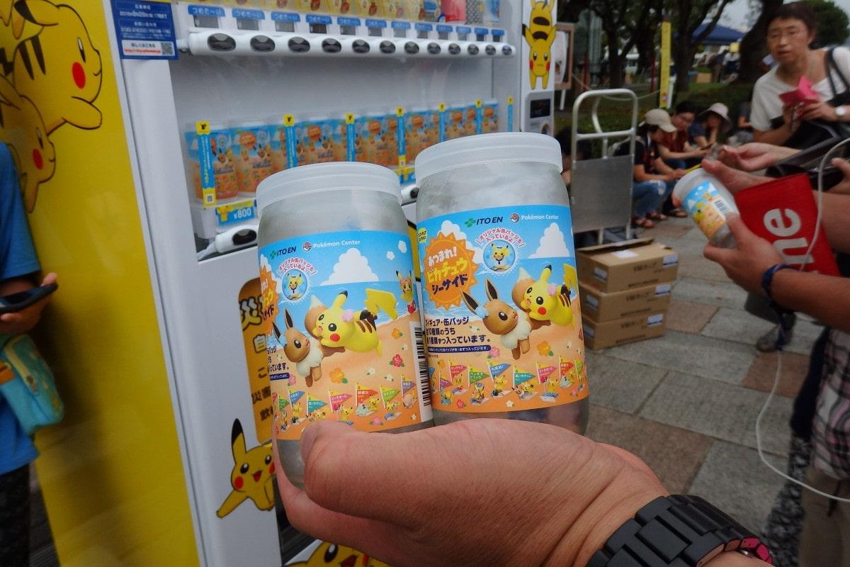 会場の自動販売機には、ポケモンキャラクターのビン詰も - 横須賀経済新聞