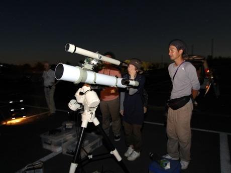 「横手星の会」が主催する天文観察体験会