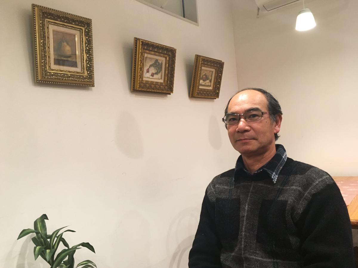 個展を開いている柴田周一さん
