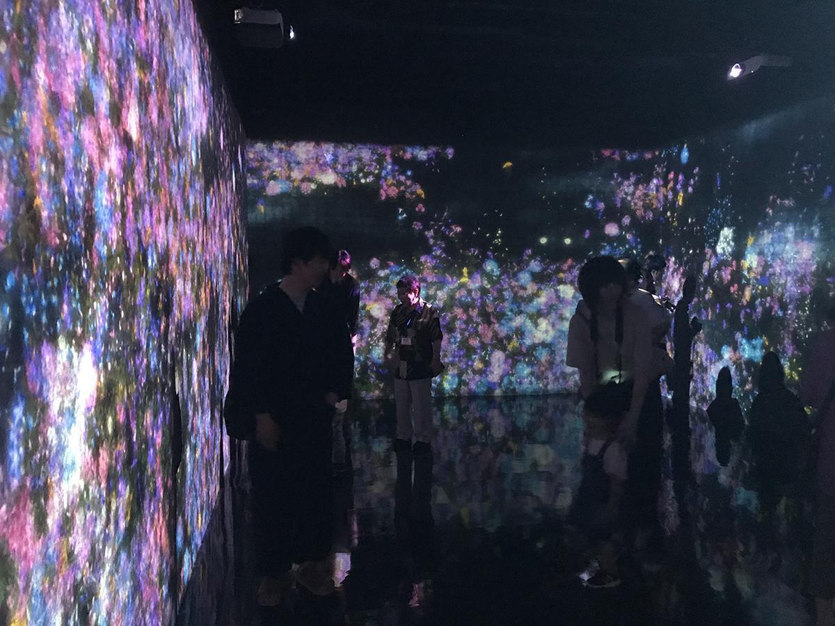 「チームラボ★踊る!アート展と、学ぶ!未来の遊園地」内覧会の様子