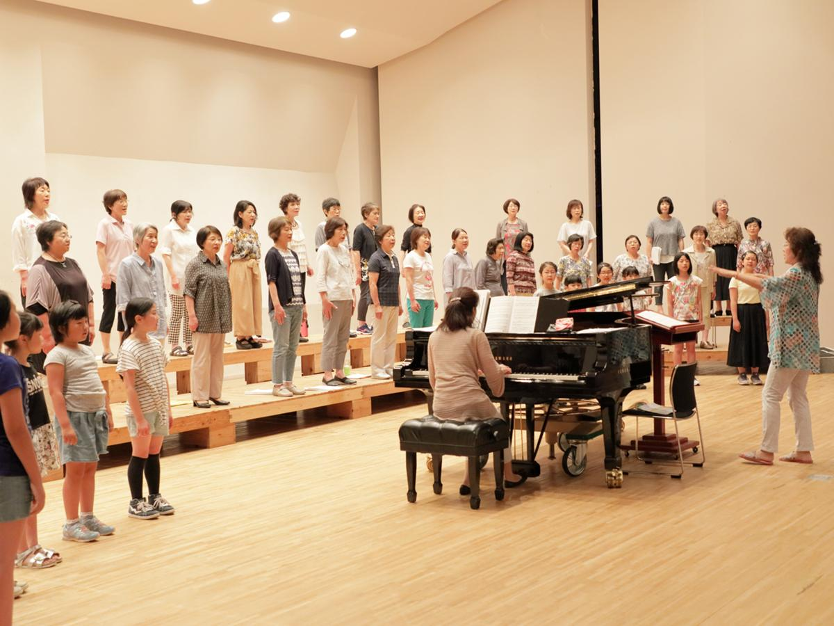 「響け歌のWA!コンサート」のステージリハーサル風景