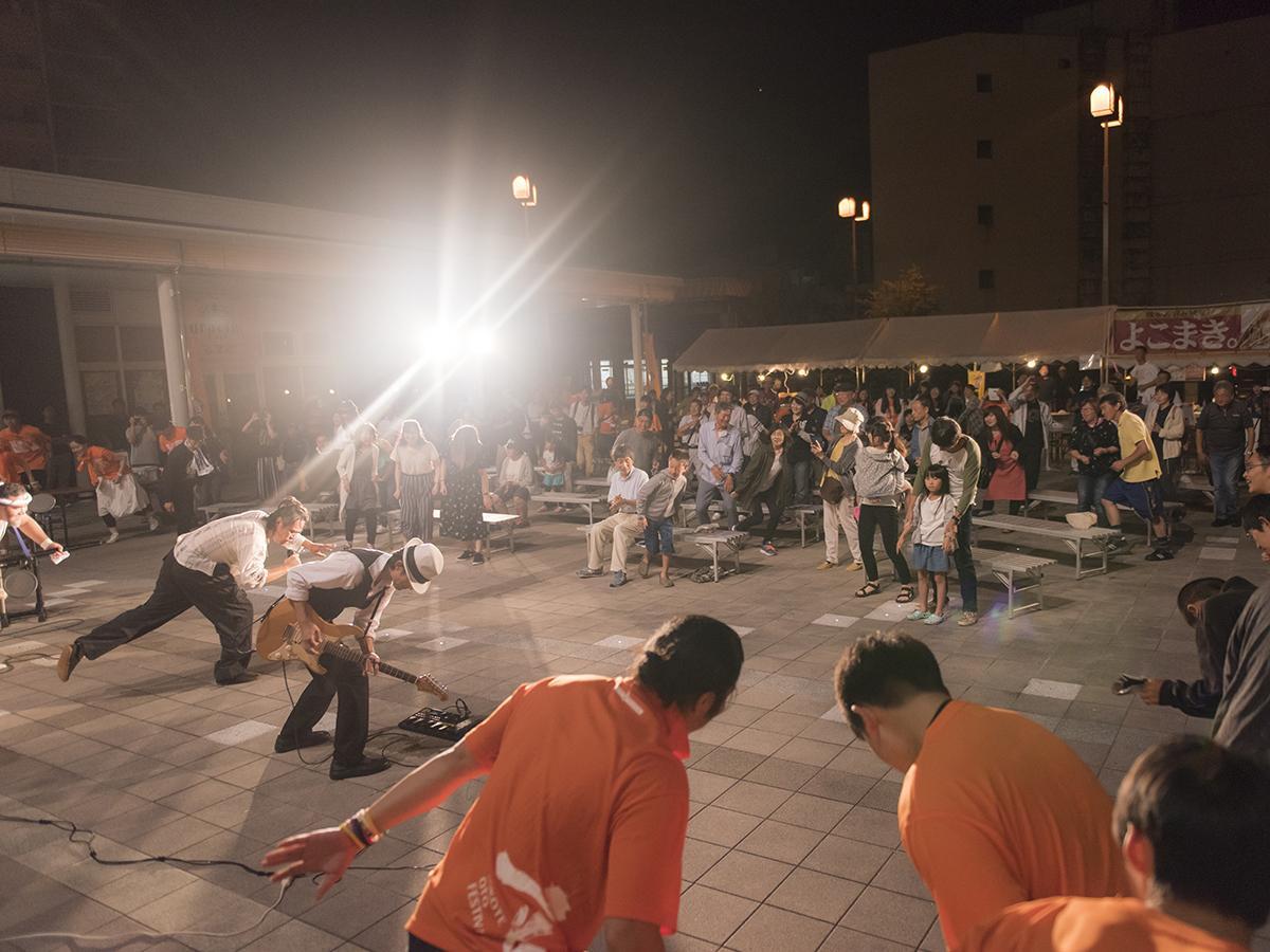 「YOKOTE音FESTIVAL」最終演奏の様子