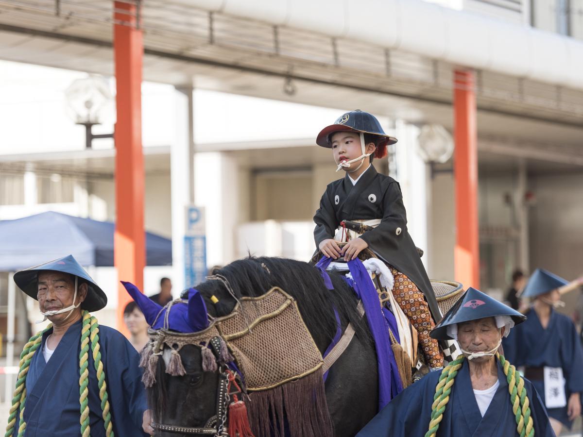 「愛宕神社祭典湯沢市大名行列」の殿様(写真は2017年)