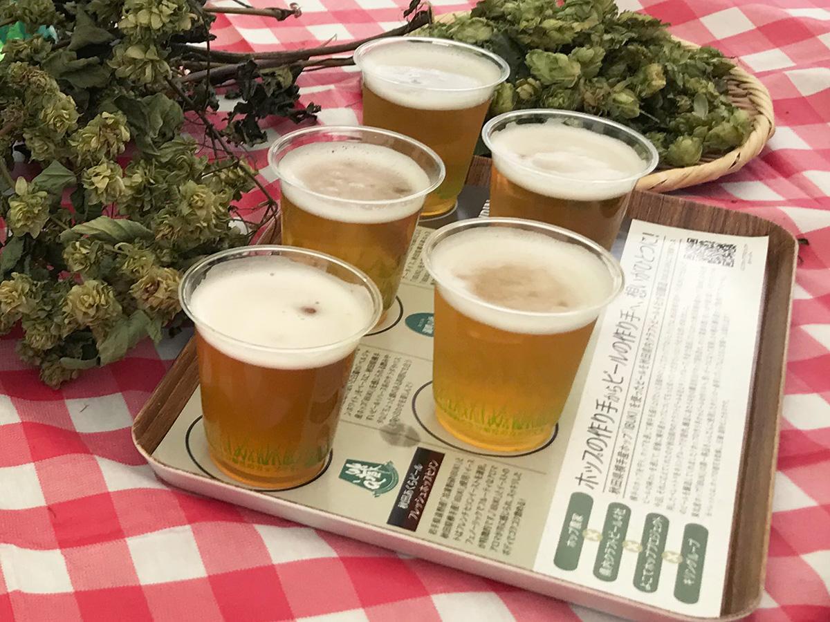 10月14日に「YOKOTE発酵FES」で提供予定の5種飲み比べセット