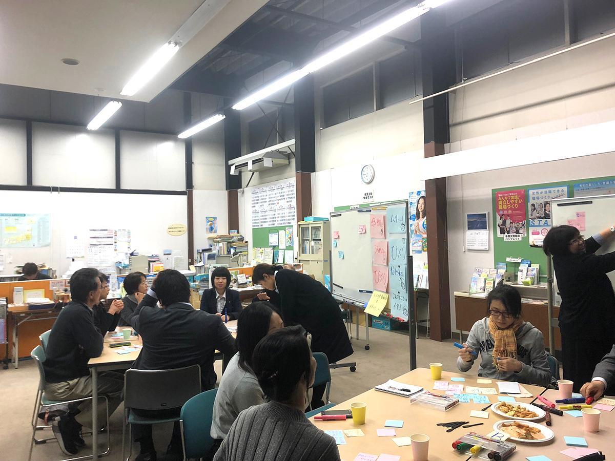 「県外出身者ぶっちゃけトーク交流会」グループセッションの様子