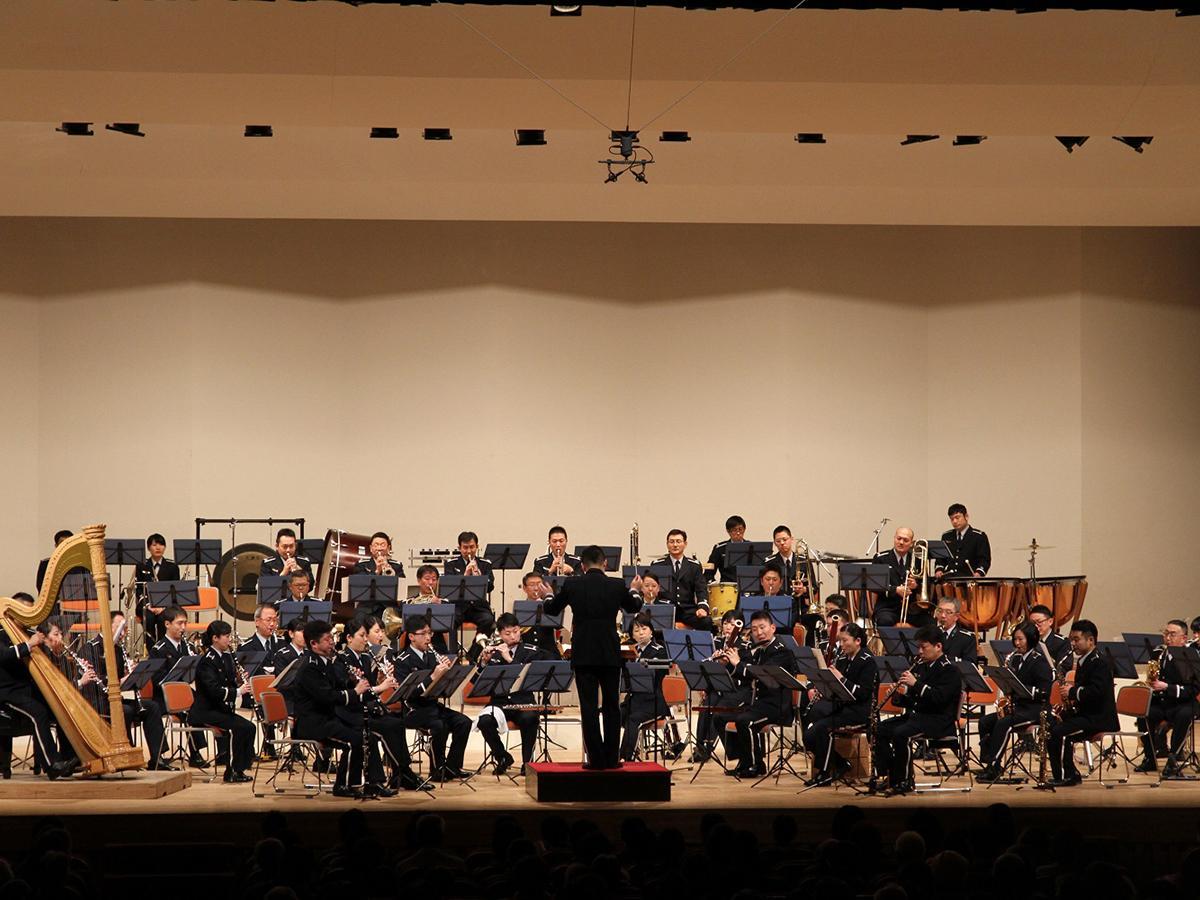 5月に開かれた「航空自衛隊 北部航空音楽隊」コンサートの様子