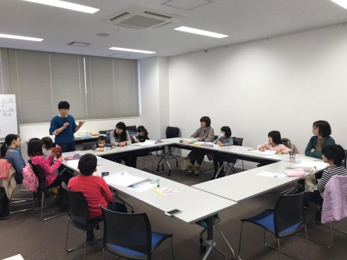 秋田市で開かれた「冬休みの宿題攻略ワークショップ」の様子