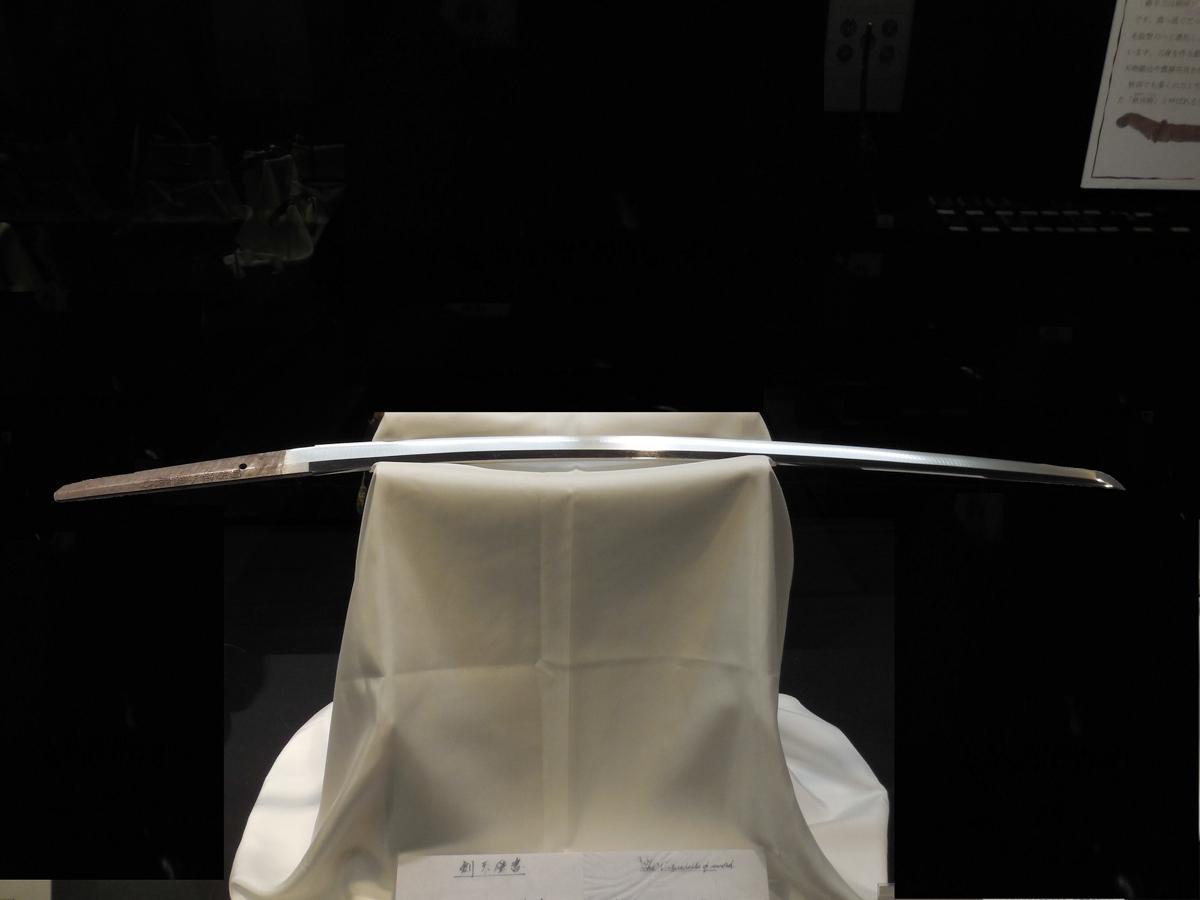 横手市後三年合戦金沢資料館で展示する「兼廣の刀」