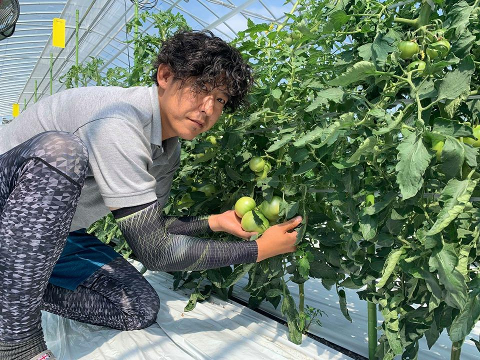 AIを活用した潅水施肥システムを導入して就農した菊地優さん