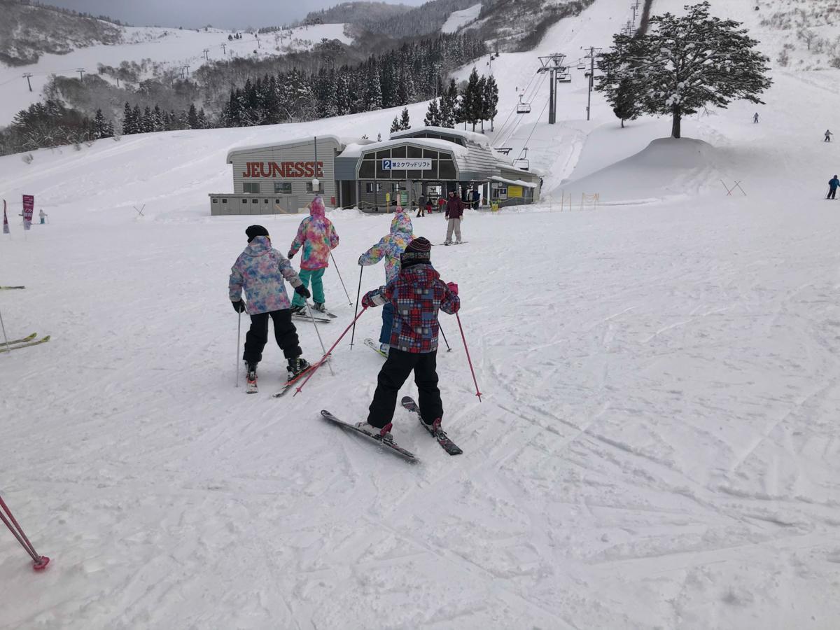 「ジュネス栗駒スキー場」のゲレンデの様子(1月4日現在)