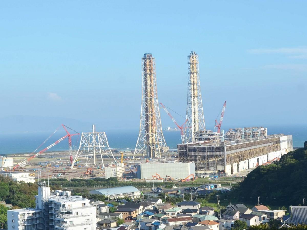 横須賀市久里浜の石炭火力発電所建設予定地(提供=横須賀石炭火力発電所建設について考える会)