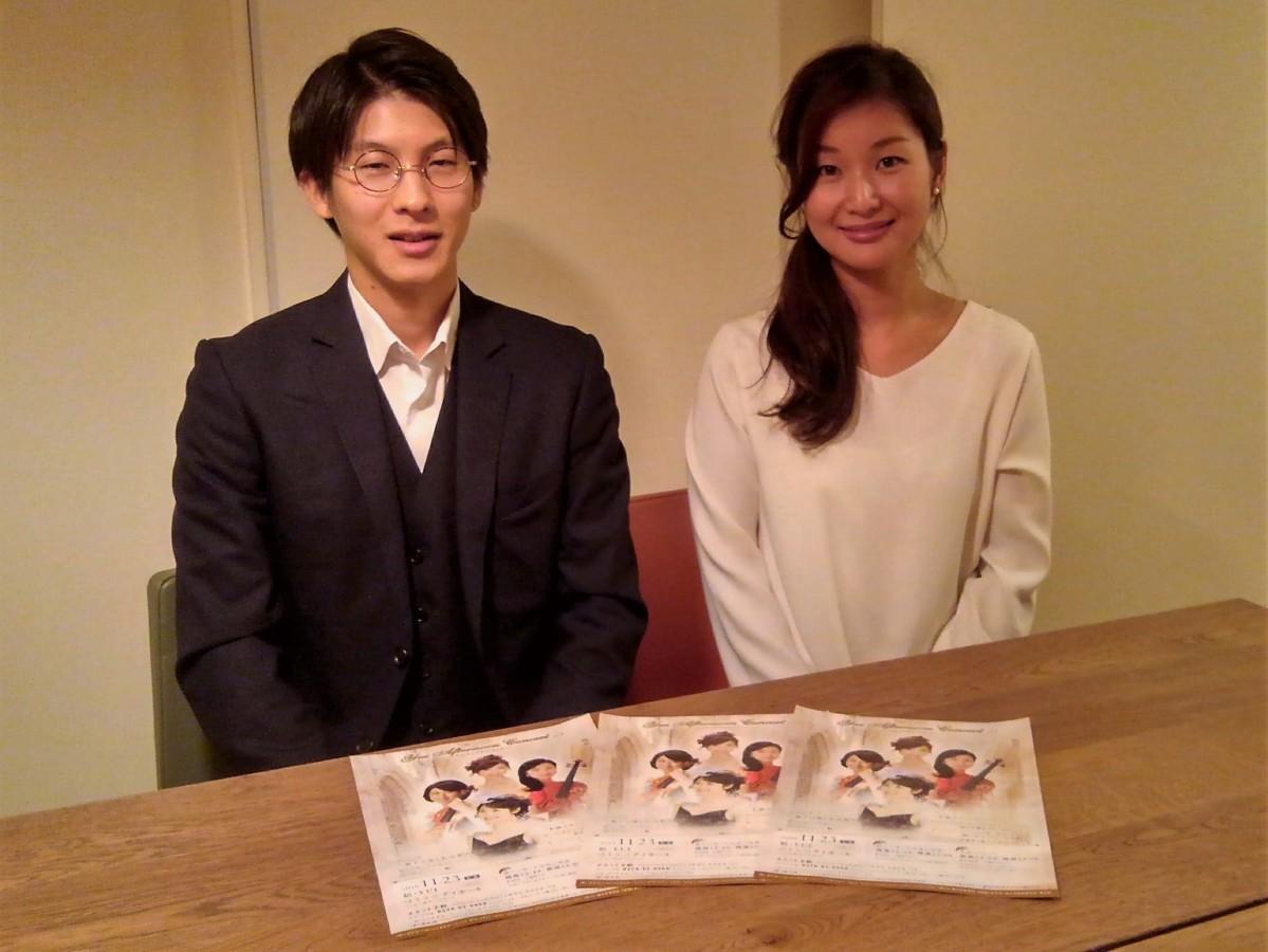 (左から)ぷらすみゅーじっくの代表、近藤喬之さんとビオラ奏者の木村章子さん