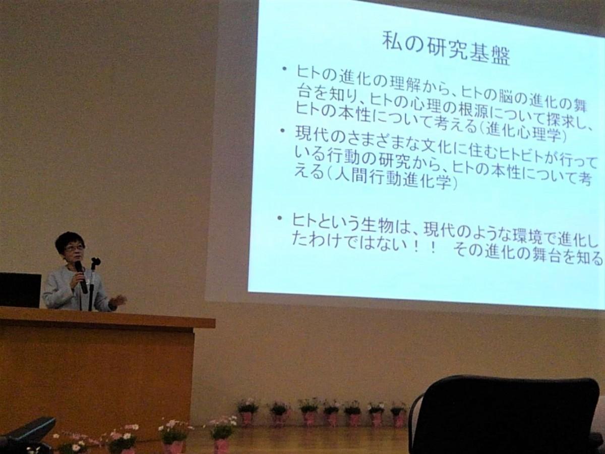 総合研究大学院大学の学長、長谷川眞理子さん