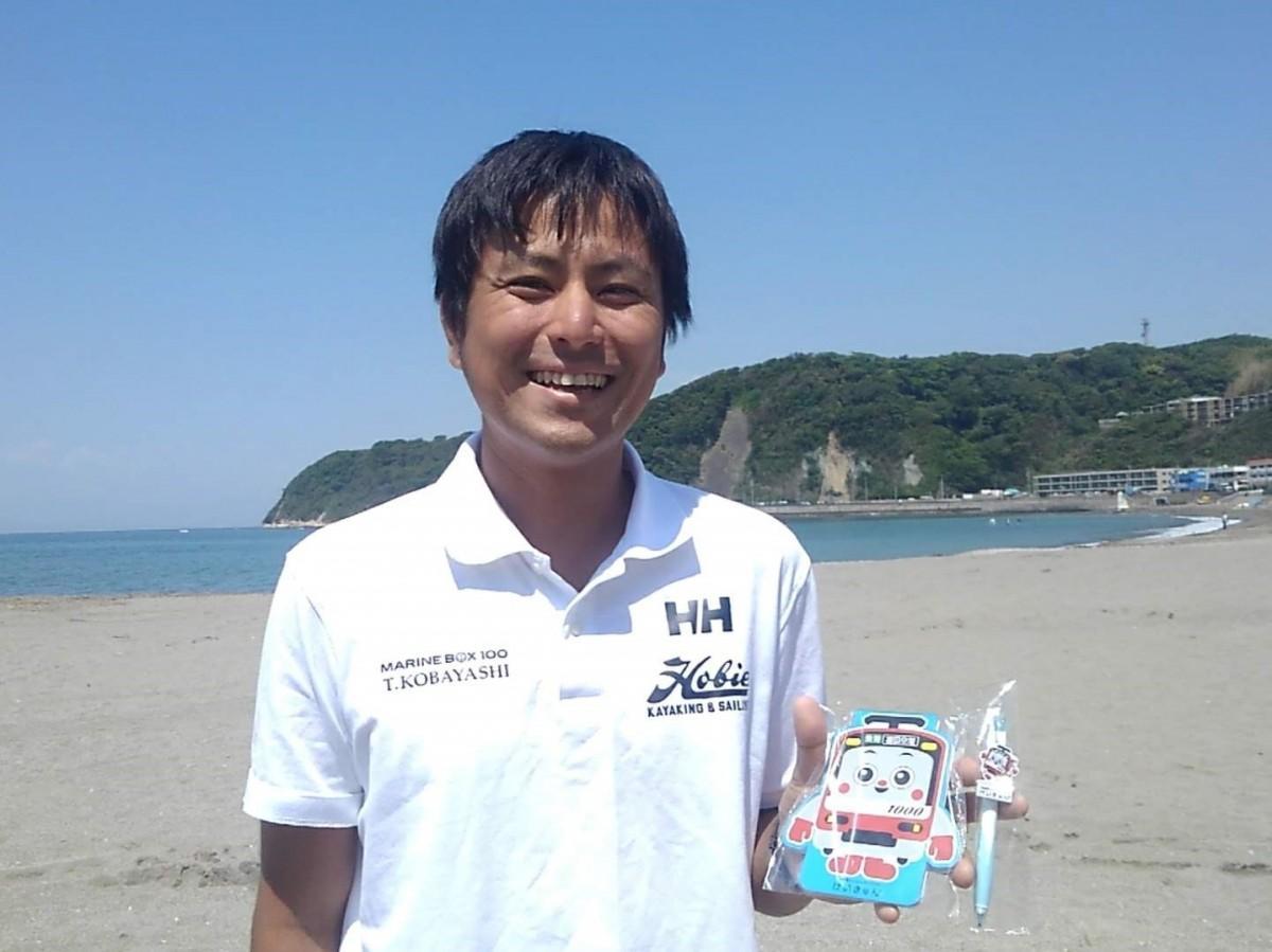 逗子ビーチ・クリーン隊の隊長で「マリンボックス100」代表、小林太樹さん