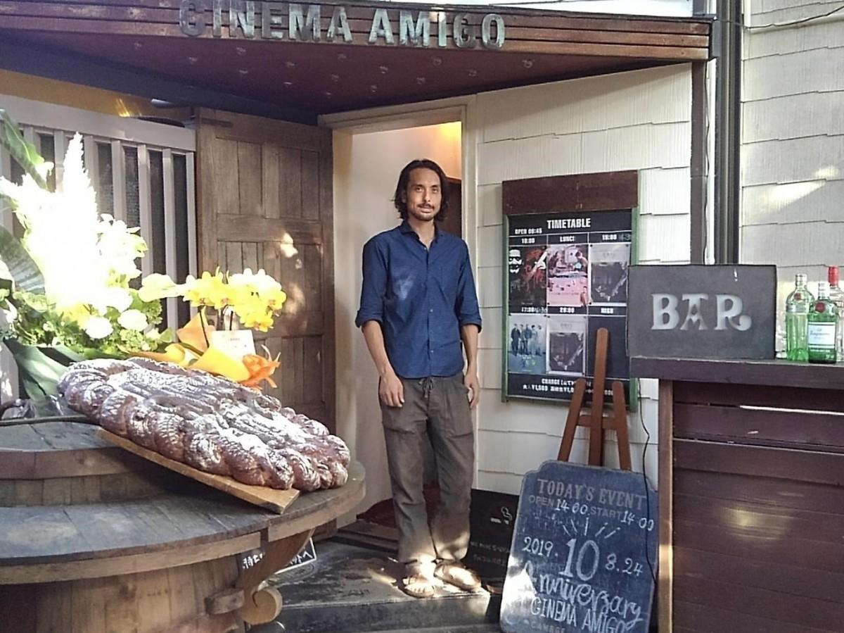 「CINEMA AMIGO」館長の長島源さん