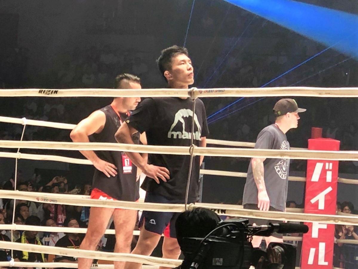 2019年8月、競技会「RIZIN FIGHTING FEDERATION(ライジンファイティングフェデレーション)に出場した時の水垣偉弥さん(提供=水垣偉弥さん)
